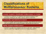 classifications of multiprocessor systems
