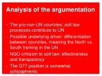 analysis of the argumentation