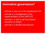 innovative governance