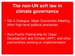 the non un soft law in climate governance