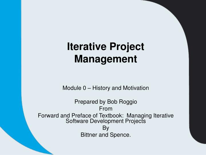 iterative project management n.