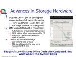 advances in storage hardware