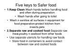 five keys to safer food
