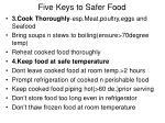 five keys to safer food1