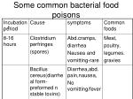some common bacterial food poisons1