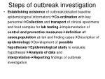 steps of outbreak investigation