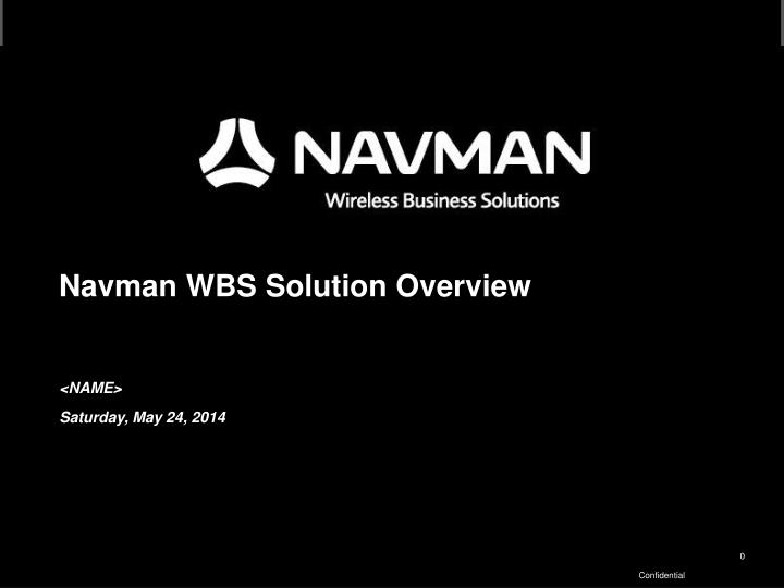 navman wbs solution overview n.