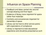 influence on space planning