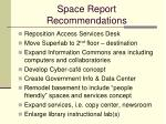 space report recommendations