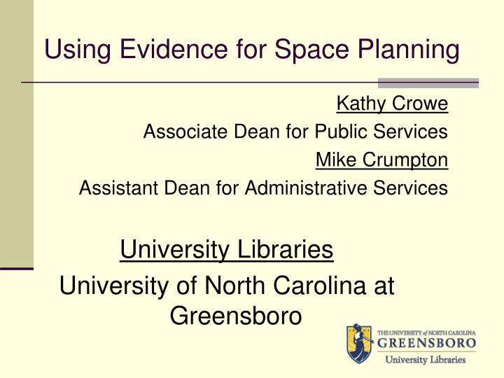 using evidence for space planning n.