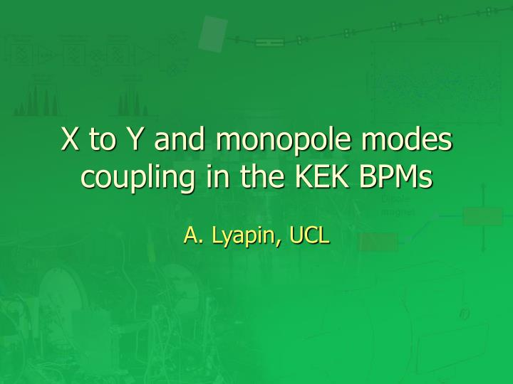 x to y and monopole modes coupling in the kek bpms n.