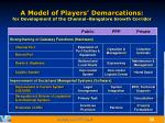 a model of players demarcations for development of the chennai bangalore growth corridor