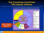 top investing countries fdi equity inflows