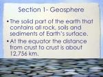 section 1 geosphere