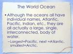 the world ocean