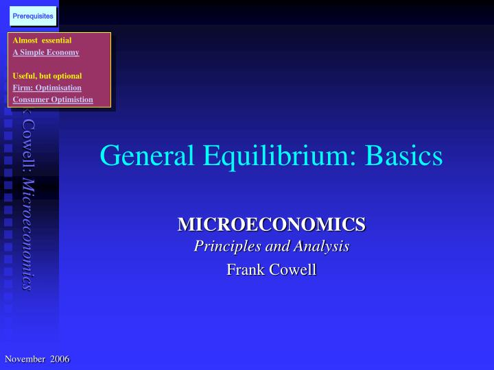 general equilibrium basics n.