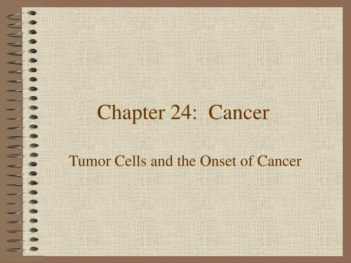 chapter 24 cancer n.