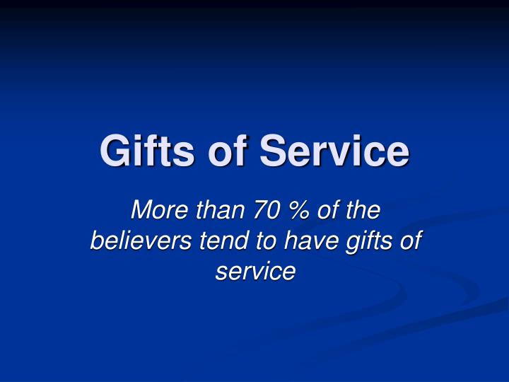 gifts of service n.