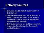 delivery sources