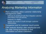 analyzing marketing information