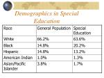 demographics in special education