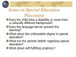 issues in special education placement