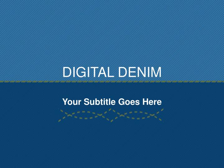 digital denim n.