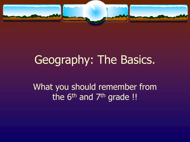 geography the basics n.