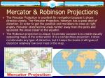 mercator robinson projections