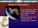 modern mapmaking