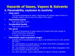 hazards of gases vapors solvents1