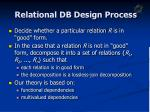 relational db design process