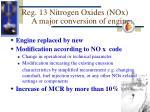 r eg 13 nitrogen oxides nox a major conversion of engine