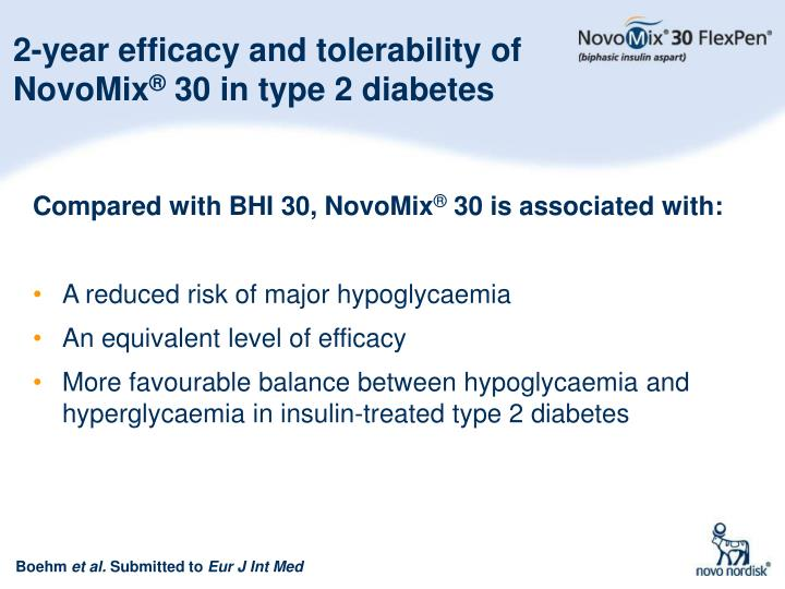 2-year efficacy and tolerability of NovoMix