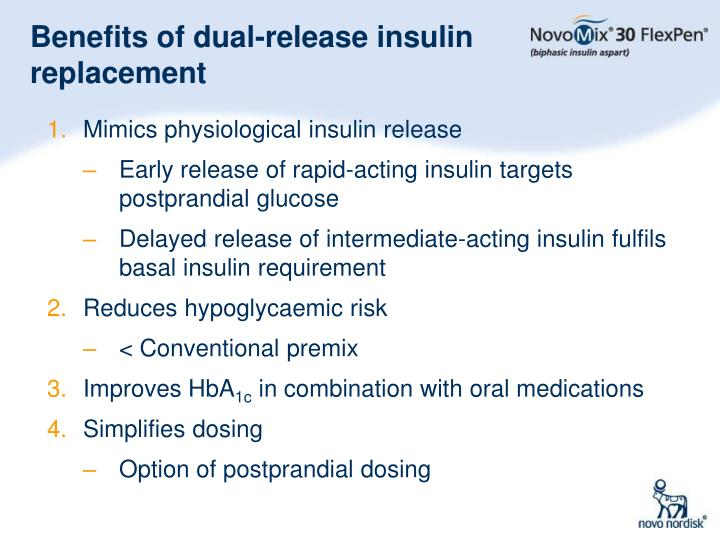 Benefits of dual-release insulin replacement