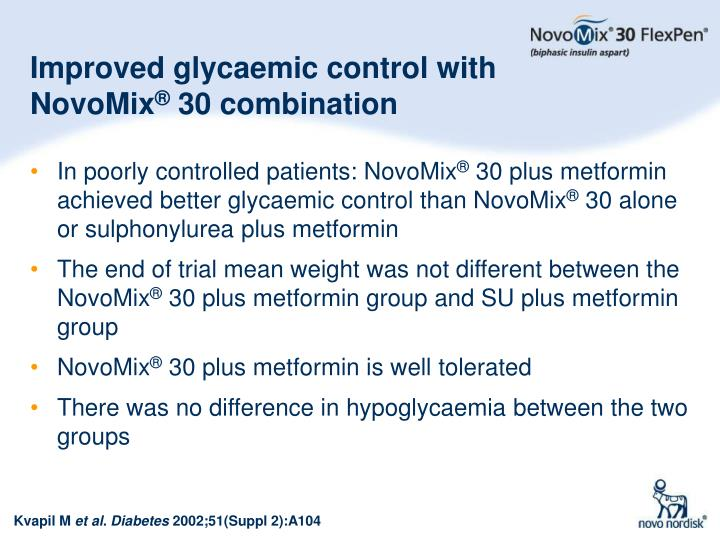 Improved glycaemic control with NovoMix