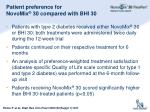 patient preference for novomix 30 compared with bhi 30