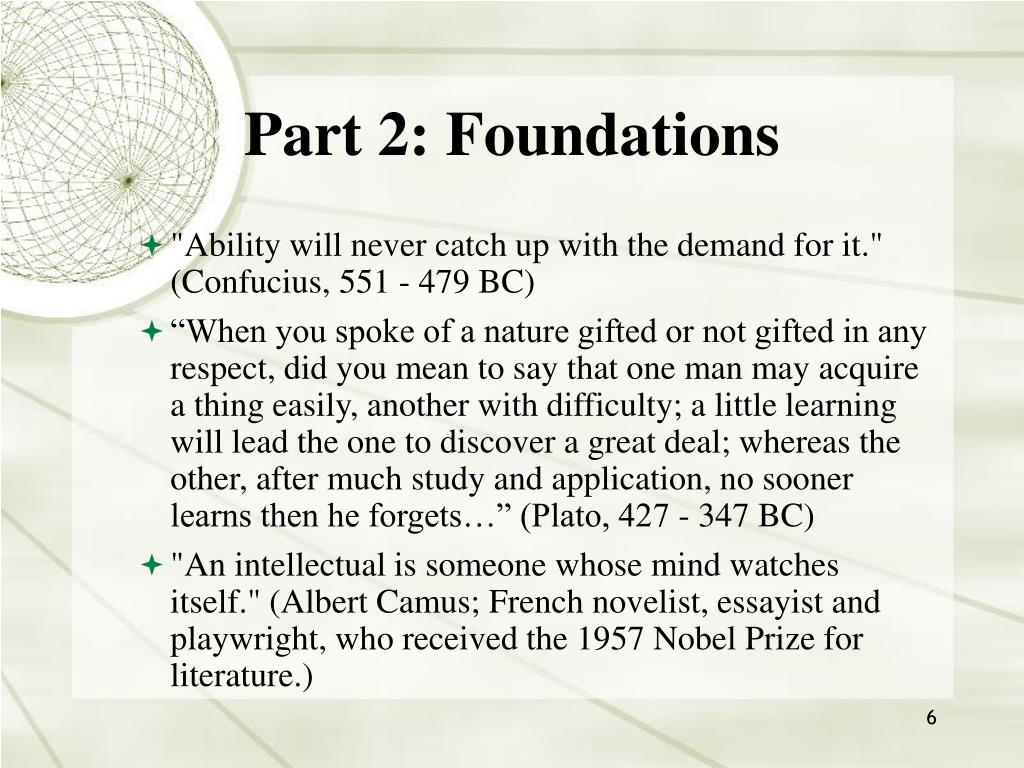 Part 2: Foundations