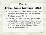 part 6 project based learning pbl
