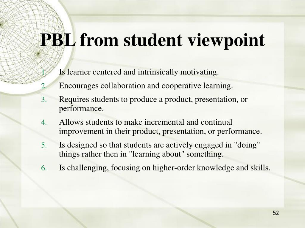 PBL from student viewpoint
