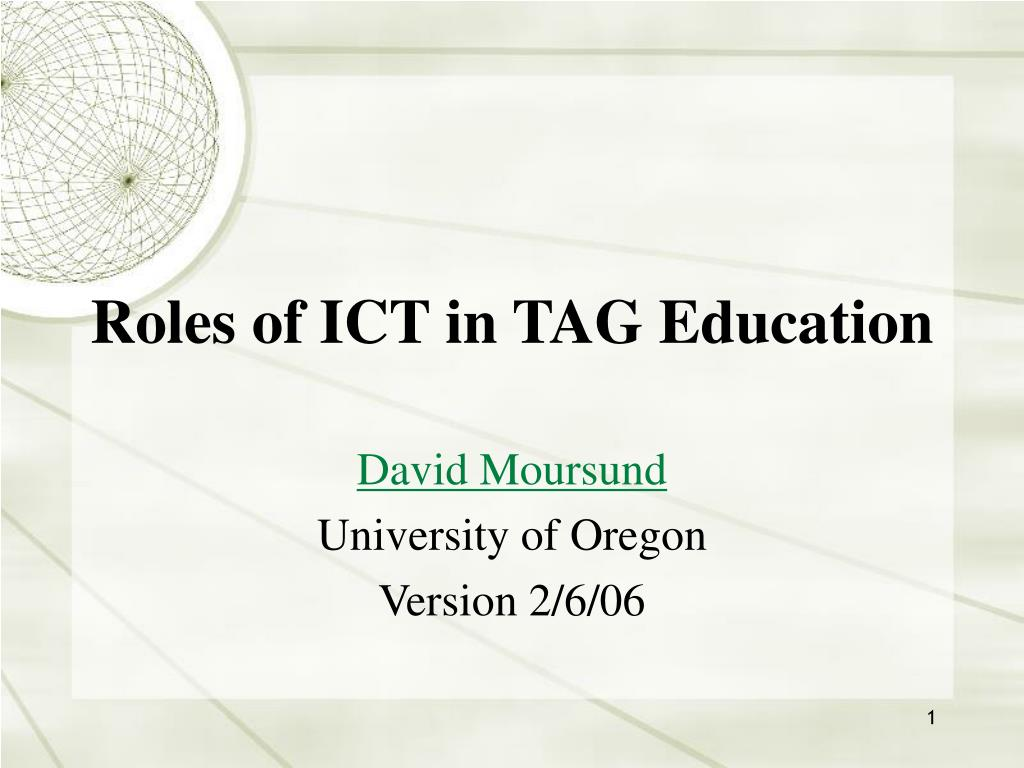 roles of ict in tag education l.