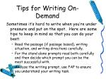 tips for writing on demand