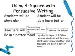 using 4 square with persuasive writing1