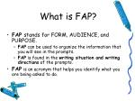what is fap