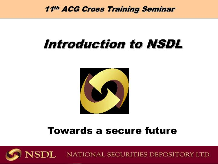 11 th acg cross training seminar n.