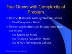 tool grows with complexity of problem