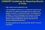 consort guidelines for reporting results of trials