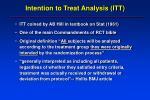 intention to treat analysis itt