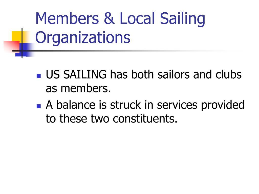 Members & Local Sailing Organizations
