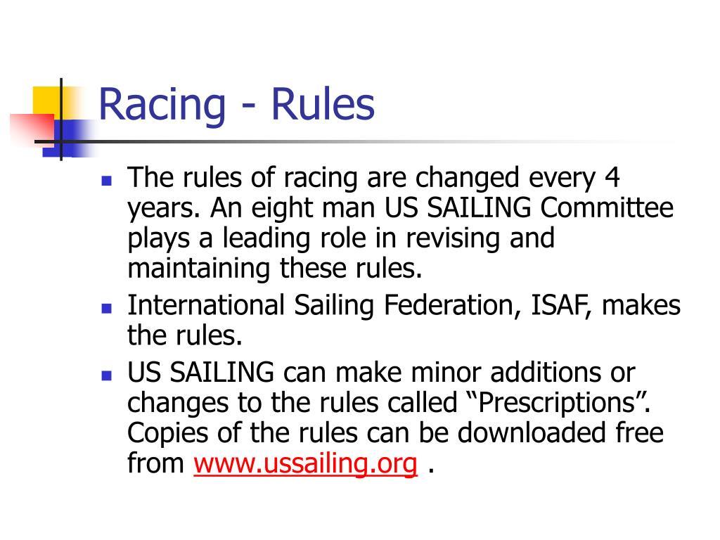 Racing - Rules